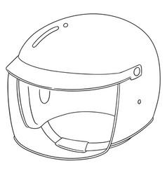 Set of motorcycle helmet vector