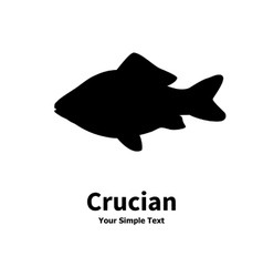 silhouette of crucian carp vector image