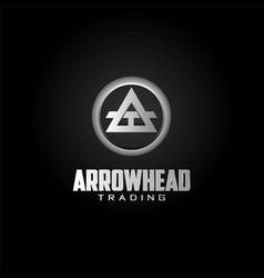 Simple spear arrowhead abstract symbol vector