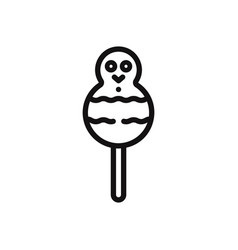 snowman candy icon vector image