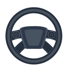 Steering wheel single icon in cartoon style for vector