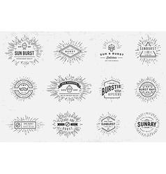 Sunburst on Starburst Element Set for Logo vector image