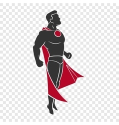 Superhero flying up vector image