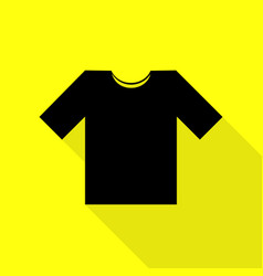 t-shirt sign black icon with flat vector image vector image