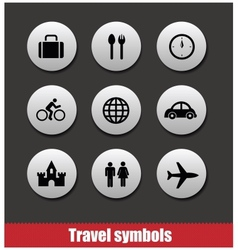 Travel symbols set vector