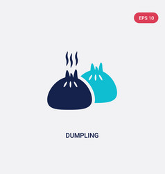 Two color dumpling icon from food concept vector