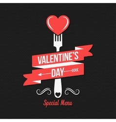 Valentines day menu design background vector image
