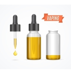 Vaping E-liquid Bottle vector image