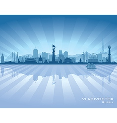 Vladivostok Russia skyline city silhouette vector