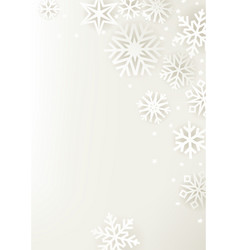 white winter holidays greeting card vector image