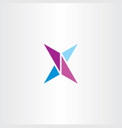 x logo letter purple blue symbol icon element vector image