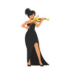 young violin musicia vector image