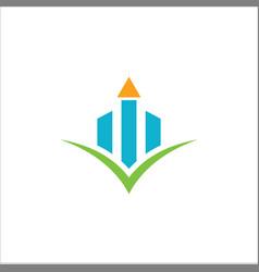 business finance graph logo vector image
