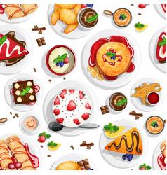 dessert top view vector image