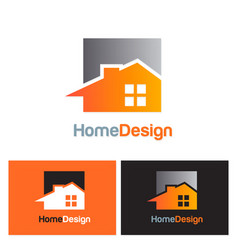 home realty design logo vector image