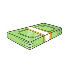 Packed dollars money icon cartoon style vector image