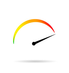 symbol min max speed meter vector image vector image