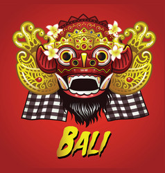 traditional balinese barong mask vector image