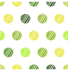 Vintage green background with grunge polka dots vector image vector image