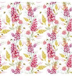 Watercolor grevillea pattern vector