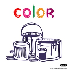 Color banks vector image