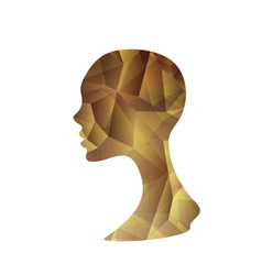 Crystal Abstract Woman vector image