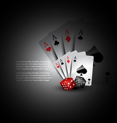 playing card and dices vector image