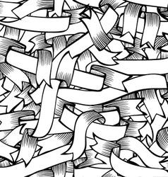Seamless pattern of hand-drawn ribbons vector image vector image