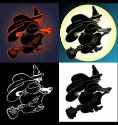 versions of the witch vector image vector image