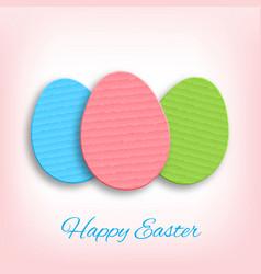 Cardboard easter eggs vector