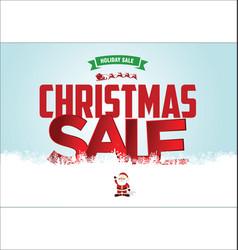 christmas sale web banner 2 vector image
