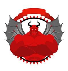 Dreaded Scary Satan logo for a sports team or vector image vector image