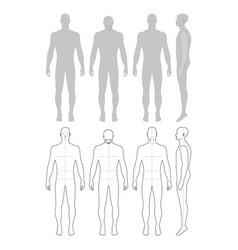 fashion man figure vector image vector image