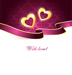 valentine card vintage vector image vector image