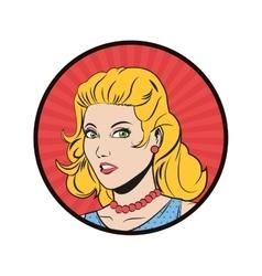 woman cartoon pop art and retro design vector image vector image