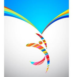 abstract background with a colorful man with frame vector image