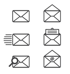 Mail icons graphics vector