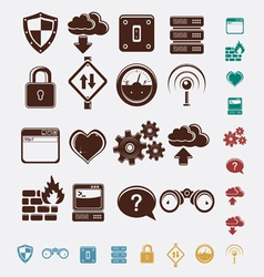 set of network icons vector image