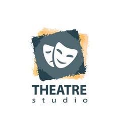 Set of theater studio logo design vector