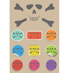Skull and bones - a mark of the danger warning vector image vector image
