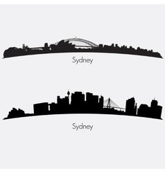 Sydney skylines vector image vector image