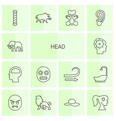 14 head icons vector