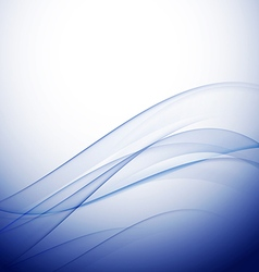 abstract elegant blue wave background vector image