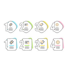 accepted payment bitcoin and copyright icons set vector image