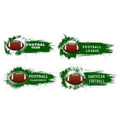 American football sport grunge banners vector