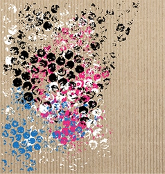 art pattern on cardboard vector image vector image