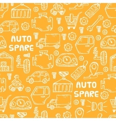 auto spare parts pattern vector image