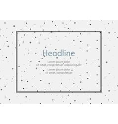 Background for presentation slides with dots vector image