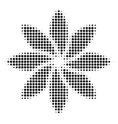 black dotted abstract flower icon vector image