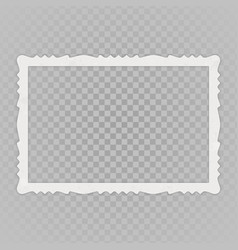 blank vintage photo frame vector image